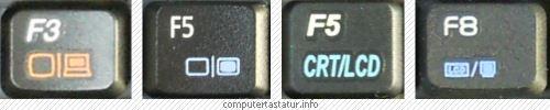 Notebook Fn-Taste für externen Monitor oder Beamer