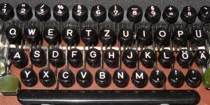 Schreibmaschinenblock Tastatur Windows deutsch